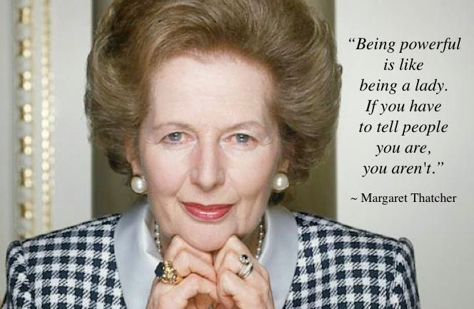Thatcher … Lady of Influence